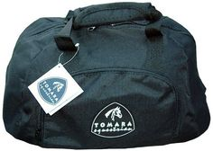 TOMARA Equestrian Helmet Bag Carry Case (Black) by Tomara. $24.99. The TOMARA Equestrian helmet bag is made with extremely durable and washable Terylene outer shell, while the inside of the bag is lined with foam padding and finished with soft fleece for a well padded and soft interior. There is a small side compartment to carry accessories with a small secure netted pocket. The base contains a plastic board with padding to retain the bag's shape and form which protects y...