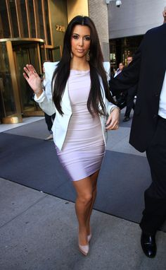 dress with blazer kim kardashian