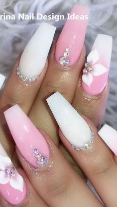 Such pretty nails 💖 - Nageldesign - Perfect Nails, Gorgeous Nails, Pretty Nails, Aycrlic Nails, Swag Nails, Grunge Nails, Nagellack Design, Red Acrylic Nails, Nails Only