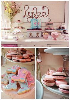 cowgirl party ideas | As if this display isn't darling enough with its antique dresser and ...