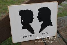 Princess Leia and Han Solo love sign!  Star Wars!