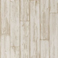 Peeling Planks (W0050/04) - Clarke & Clarke Wallpapers - A natural wood paneling in a photo finish effect. Showing in a white wood colouring - more colours are available. Please request a sample for true colour match. Paste-the-wall product.
