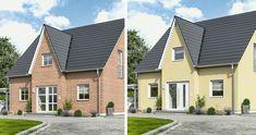 """Mal was anderes, unser #Massivhaus """"Lifestyle 120"""". Was gefällt Euch besser beim #Hausbau Putz oder Klinker?"""