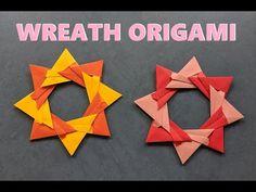 Origami Wreath, Origami Paper, Paper Stars, The Creator, Wall Decor, Wreaths, Wall Hanging Decor, Door Wreaths, Deco Mesh Wreaths