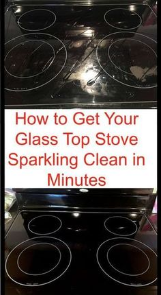 to Get Your Glass Stovetop Sparkling Clean in Minutes Cleaning hack to clean your glass stove in just a few minutes.Cleaning hack to clean your glass stove in just a few minutes. Household Cleaning Tips, Deep Cleaning Tips, Toilet Cleaning, House Cleaning Tips, Natural Cleaning Products, Cleaning Solutions, Cleaning Recipes, Cleaning With Baking Soda, Household Cleaners