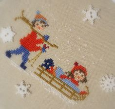 Lacomtesse&lepointdecroix: Il blog va in montagna! Christmas Sewing, Christmas Embroidery, Christmas Cross, Xmas, Cross Stitch Borders, Cross Stitching, Cross Stitch Patterns, Embroidery Art, Cross Stitch Embroidery