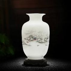 [ 19% OFF ] Antique Snow Scenery Vase Ancient Ways Jingdezhen Ceramic Vase For Artificial Flower Decoration Vases