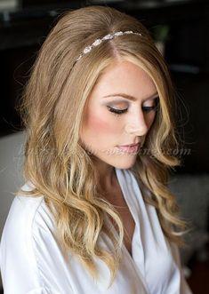 wedding headband hair up crystal hairpiece, bridal headwrap, gatsby ...