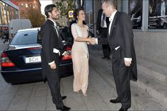 Princess Sofia Hellqvist and Prince Carl Phillip at the Royal Swedish Academy