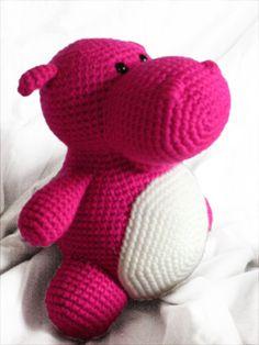 $3.50 Hilda the hippo amigurumi crochet pattern by Footloosefriend