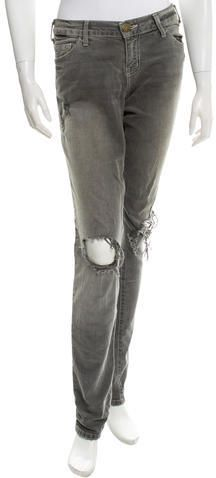 Current/Elliott Distressed Straight-Leg Jeans Jean Grey, Distressed Jeans, Legs, Denim, Stylish, Pants, Women, Fashion, Ripped Denim Jeans