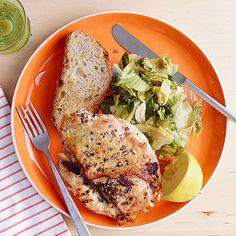 Garlic-Rosemary Chicken with Wilted Lemon Escarole