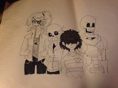 1!  I have to draw Alphys, Flowey, Metaton, Chara, and Gaster but...yeah. I like it