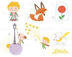 Little prince - fantasy clipart - 17053 Clipart, Little Prince Party, The Little Prince Theme, Prince Cake, Fox Drawing, Diy And Crafts, Paper Crafts, Painting For Kids, Baby Boy Shower