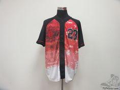 Master Piece Michael Jordan Button Up Baseball Jersey sz 2XL XXL Red Black White #MasterPiece #ChicagoBulls #tcpkickz