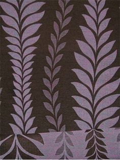 """Zahra Leaf Radicchio.  60% Polyester, 40% Rayon reversable jacquard for Drapery, Bedding, Pillows. 20.5"""" vertical repeat, 54"""" wide."""