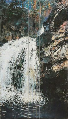 Akseli Gallen-Kallela (26 aprilie 1865 - 7 martie 1931)   - Mäntykoski Waterfall, 1893