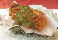 Fresh cilantro and hint of lime juice gives this fried oyster recipe a light touch. Add just the amount heat with LA VICTORIA® Thick'N Chunky Salsa Verde. Verde Sauce, Salsa Verde Recipe, Chunky Salsa, Oyster Recipes, Fried Oysters, Taco Sauce, Bon Appetit, Seafood Recipes, Fries