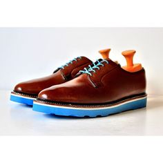 Quick resole with out baby blue bricklayer sole on these cognac derby shoes for a vacation to the big apple. Get your order in at www.greenwichvintage.us/shop