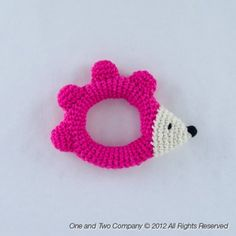 Hedgehog Rattle PDF Crochet Pattern by oneandtwocompany Crochet Baby Toys, Crochet For Kids, Crochet Animals, Diy Crochet, Crochet Dolls, Baby Patterns, Crochet Patterns, Baby Mobile, Baby Rattle