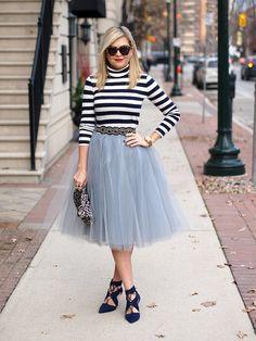 Sale Grey tulle skirt 5 layered Tulle Skirt by MyBarkatVilla