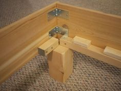36 Easy DIY Bed Frame Projects to Upgrade Your Bedroom Planning to upgrade your bedroom? Why not make one of these DIY bed frame projects? Here are some great plans and instructions to build your own comfy bed. Diy King Bed Frame, Bed Frame And Headboard, Diy Frame, Bed Frames, Woodworking Jig Plans, Woodworking Projects, Woodworking Equipment, Woodworking Store, Workbench Plans