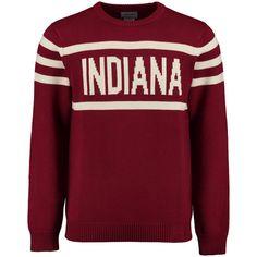 Indiana Hoosiers Hillflint Vintage Stadium Knit Sweater - Crimson