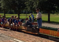 Ride the mini train at Zube Park!  It's free and runs on the 3rd Saturday of each month!