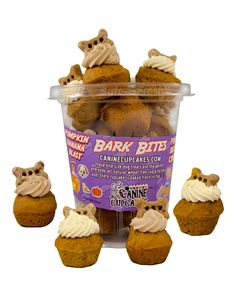 Wheat Free BARK BITES Cupcakes for Dogs Great For New Puppy, Get Well or Birthdays | Pampered Paw Gifts