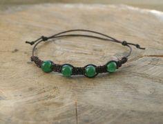 Green Aventurine Bracelet Handmade Affordable Adjustable by TriouZ, £6.15