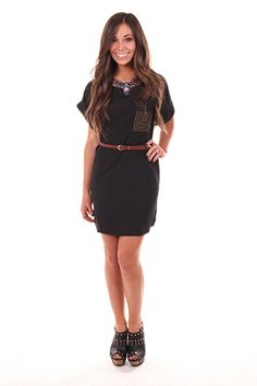 Lime Lush Boutique - Studded Pocket Dress or Top with Belt, $39.99 (http://www.limelush.com/studded-pocket-dress-or-top-with-belt/)
