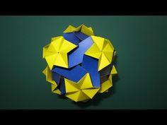 origami - modular - kusudama - celes 90 (Miyuki Kawamura) - tutorial - dutchpapergirl - YouTube