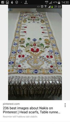 Jacobean Embroidery, Embroidery Patterns Free, Embroidery Needles, Crewel Embroidery, Cross Stitch Embroidery, Cross Stitch Patterns, Embroidery Designs, Palestinian Embroidery, Machine Applique