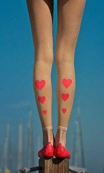 hearts print footles