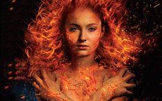 Download wallpapers Jean Grey, Dark Phoenix, X-Men Dark Phoenix, 2018 movie, Sophie Turner