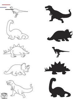 Dinosaur Worksheets, Dinosaur Theme Preschool, Dinosaur Activities, Dinosaur Art, Preschool Worksheets, Preschool Learning, Toddler Activities, Preschool Activities, Dinosaur Dress