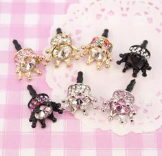 A gorgeously sparkling rhinestone, princess style crown dust plug, will fit most headphone sockets, so not only do they look super cute but they are practical too. Craft Supplies Uk, Scrapbook Supplies, Kawaii Phone Case, Phone Cases, Candy Crystals, Kawaii Crafts, Dust Plug, Jewelry Making, Craft Jewelry