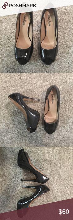 Neiman Marcus Black Patent Leather Pumps Size 7 1/2 Neiman Marcus Shoes Platforms