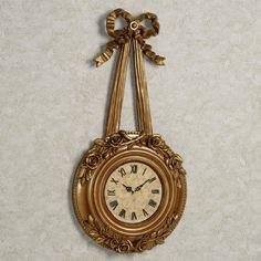 Bow and Roses Wall Clock
