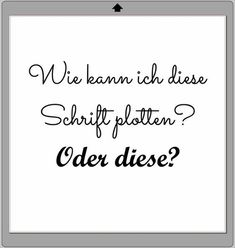 "Wiener Mädchen: Plotter-Basics: Schriften ""richtig"" plotten"