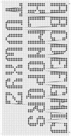 Alpha friendship bracelet pattern added by KrazyKnotz. Cross Stitch Alphabet Patterns, Cross Stitch Letters, Cute Cross Stitch, Letter Patterns, Alpha Patterns, Diy Friendship Bracelets Easy, Diy Bracelets Easy, Friendship Bracelet Patterns, Plastic Canvas Letters