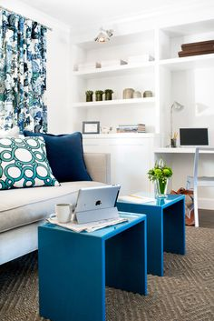 Blue and white | Marin Family Home | Jute Interior Design, Mill Valley CA