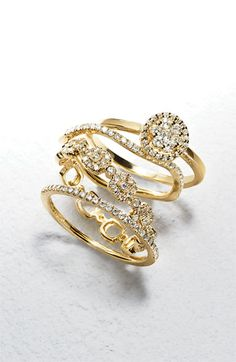 Pretty diamond rings http://rstyle.me/n/dxu5tnyg6