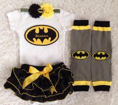 Superhero/ Bat Girl bloomer set/Black Bloomer/First by BabyTrendzz, $59.99