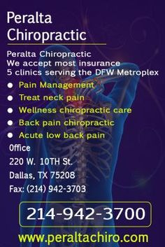 Peralta Chiropractic, Pain Management