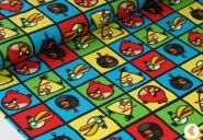 """Flanell """"Angry Birds"""", schwarz"""