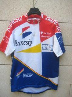 Maillot cycliste BANESTO camiseta Nalini cycling shirt jersey vintage XL