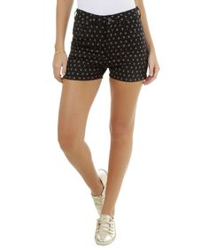 Short Hot Pant Estampado Preto