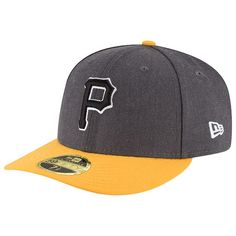 Pittsburgh Pirates New Era Shader Melt 2 Low Profile 59FIFTY Fitted Hat -  Charcoal Gold 35d4474b6ef