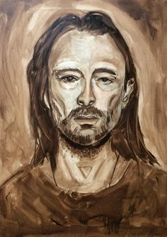 Karma police (oil on canvas – 70x50 cm)  #portraitpainting #thomyorke #radiohead #karmapolice #oilpainting